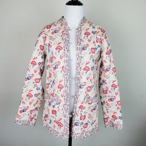 Vintage Passports Chintz Quilted Reversible Jacket